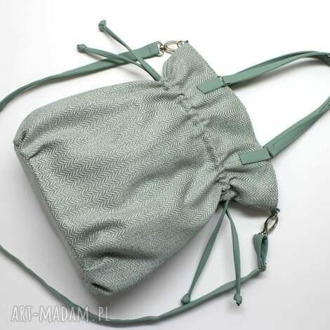 hobo sack - sakiewka - tkanina miętowa - hobo, sack, jodełka, prezent, lato