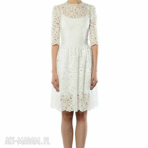 milita nikonorov olivia - koronkowa sukienka, koktajlowa, ślubna, koronkowa