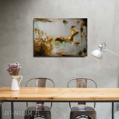 abstrakcyjny obraz w stylu grunge, abstrakcja, rdza, akryle, mixedmedia