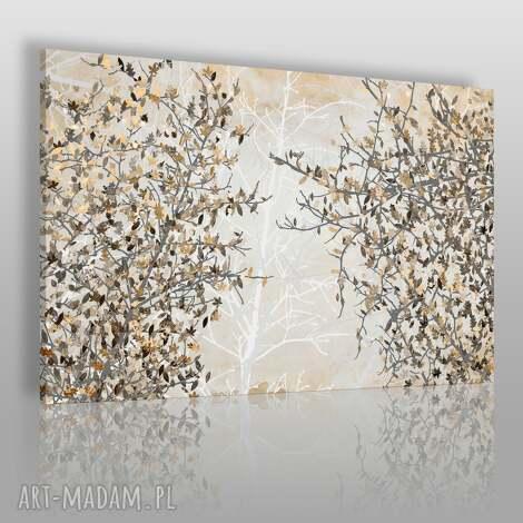 obraz na płótnie - jesienne liście 120x80 cm 23002, liście, drzewo, gałęzie, jesień