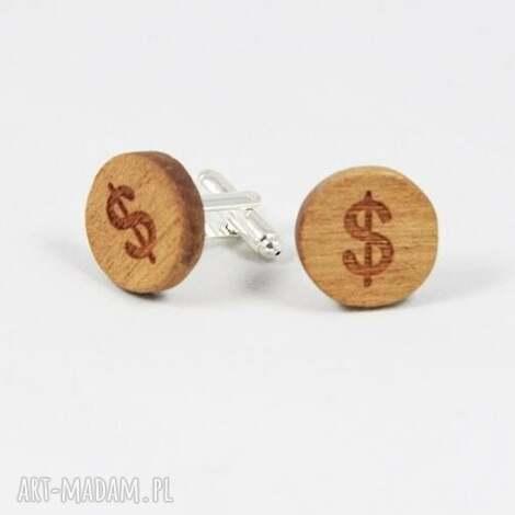 spinki do mankietów - spinkidomakietow, dolary, dolar, pieniadze