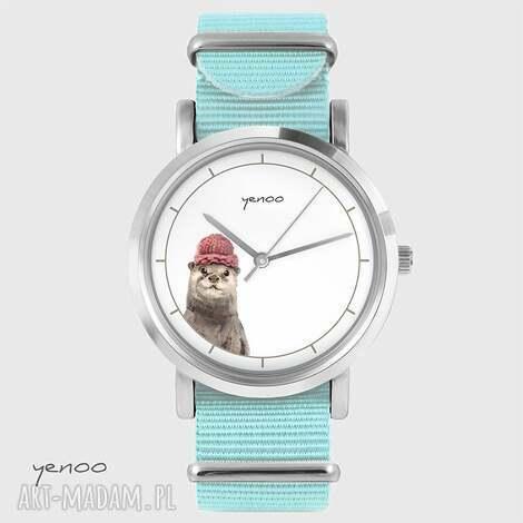 yenoo zegarek, bransoletka - wydra niebieski, nato, bransoletka, nato