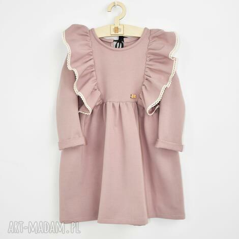 sukienka z falbankami i koronka, dladziewczynki, sukienkazfalbankami
