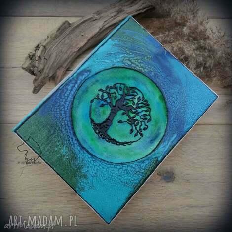 album na zdjęcia z ręcznie malowaną okładką drzewo życia, album, na, zdjęcia