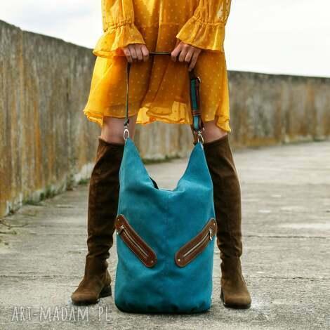 kofi - duŻa torba worek - turkusowa - worek, pojemna, duża, swobodna, wygodna
