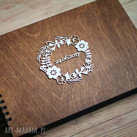 album na zdjęcia do samodzielnego wyklejania iii, album, księga, gości, drewno