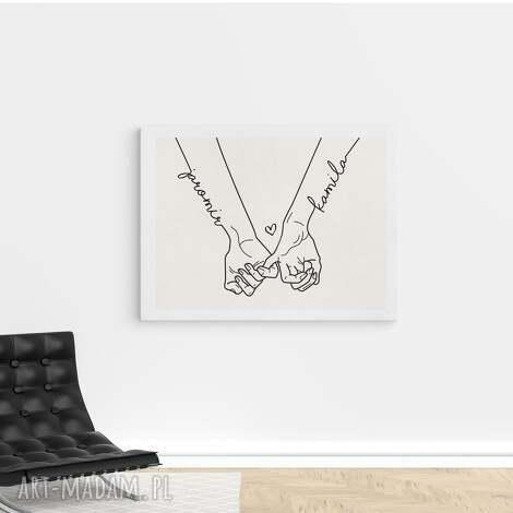 plakat złączone dłonie 60x90 cm, miłosny, urodzinowy