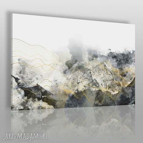 obraz na płótnie - abstrakcja fale 120x80 cm 60701, fale, abstrakcja, nowoczesny