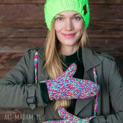 rękawiczki kolorki, ciepłe rękawiczki, dwupalczaste