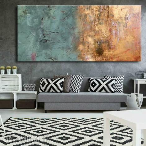 dekoracje bardzo duży obraz do salonu z rzeżbą, obrazy salonu, nowoczesne