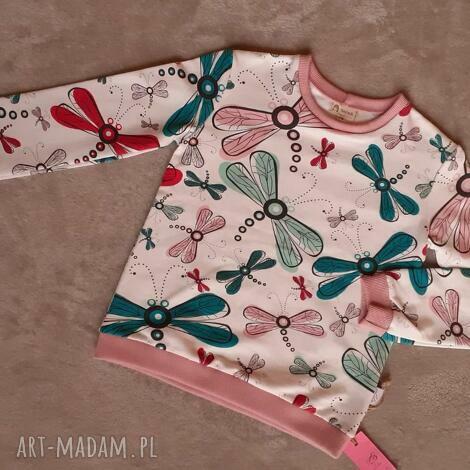 bluza dziewczęca roz 116, ważki, owady, zwierzęta, bez kaptura
