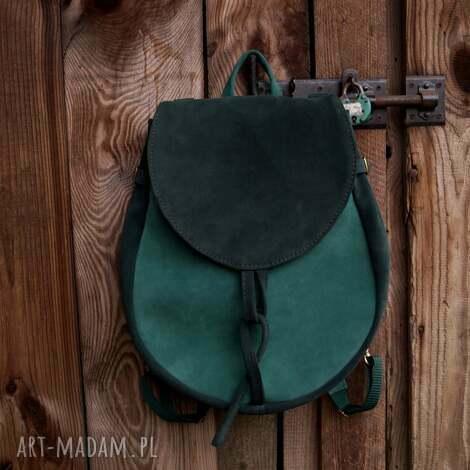 lizbeth plecak/torba zamsz naturalny zimne zielenie, plecak torba, chłodne