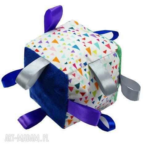 kostka sensoryczna, wzór remix - dziecka, niemowle, sensoryczna, zabawka, kostka