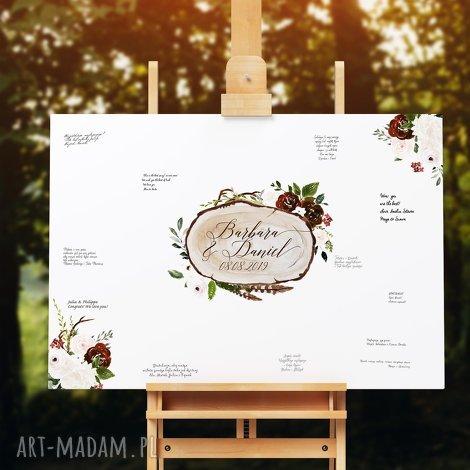 alternatywna księga gości -obraz na płótnie boho, gości, ślub, wesele