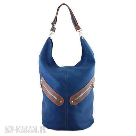 na ramię kofi - duża torba worek granatowa, worek, pojemna, duża, listonoszka