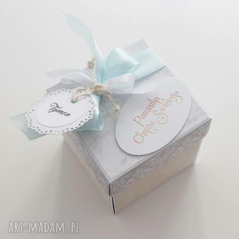 pudełko - niespodzianka - na chrzest - kartka, box, pudełko, prezent