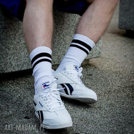 mad mada skarpetki zaye męskie w paski czarne, skarpetki, skarpety, happysocks, socks