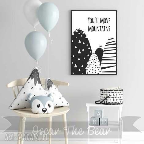plakat mountains format a3 - góry, obrazek, plakat, las, dziecko, pokoik