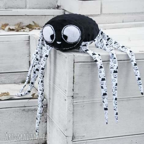 pan pająk- wyjątkowa maskotka handmade - pająk, maskotka, nietypowe, minky