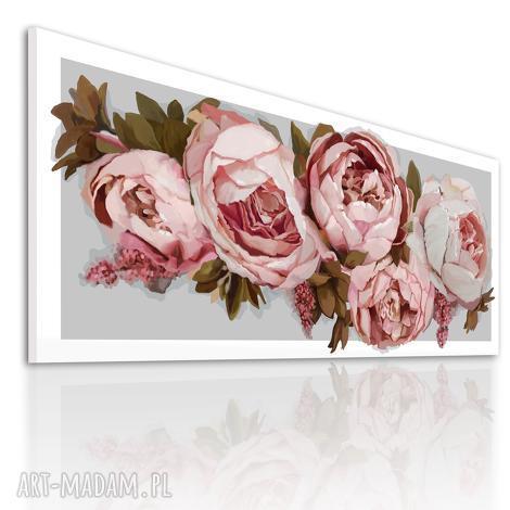 obraz na płotnie 120x50 - piwonie 0322 wysyłka w 24h, piwonie, kwiaty, nowoczesny