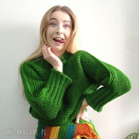 swetry trawiasty sweter, sweterek, trawiasty, wiosenny, uniwersalny