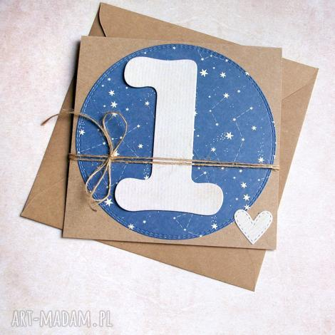 kartki na roczek gwiazdy kartka handmade, roczek, urodziny, urodzinki