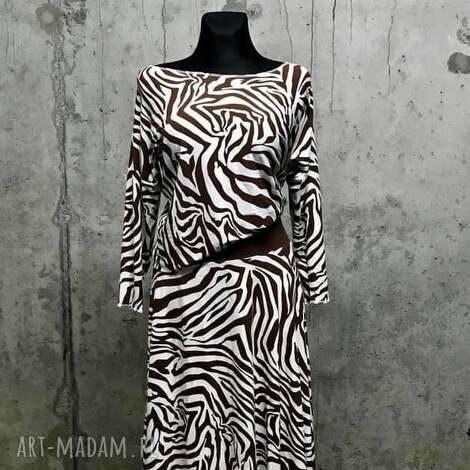 3227935942 Ubrania do 400 zł. Unikatowa sukienka wełną