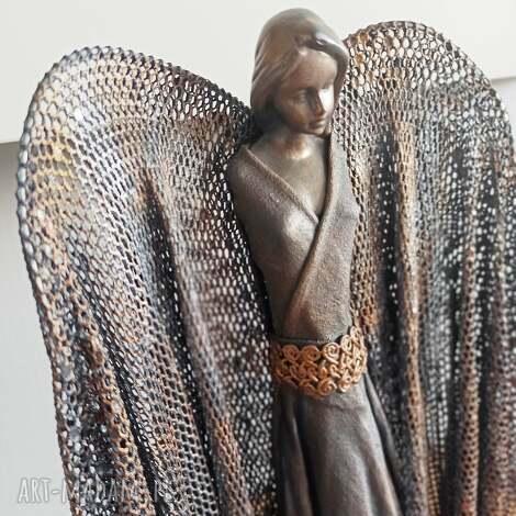 dekoracje anioł dostatku, figura anioła, stróż, dekoracja salonu, opiekun