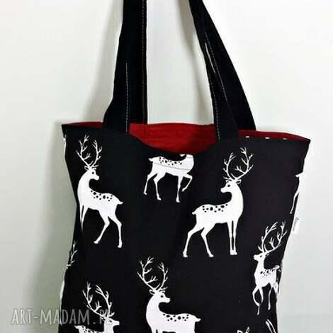 torba na zakupy ekologiczna shopperka jelenie, torba, torba-na-zakupy