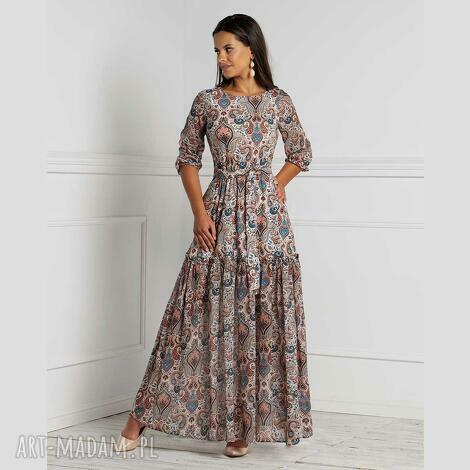 sukienki sukienka delia maxi seleme, maxi, rozkloszowana