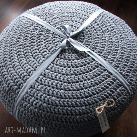 duża pufa - stolik ze sznurka bawełnianego, pufa, sznurek bawełniany