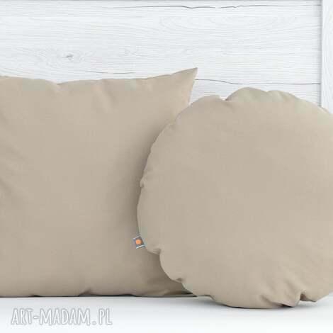 komplet poduszek dekoracyjnych 40x40cm beżowe - 2 sztuki - poduszka, poduszki