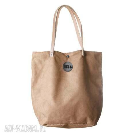 torba mysza simple beż, worek, beżowa, skóra, prezent, haft torebki, unikalny