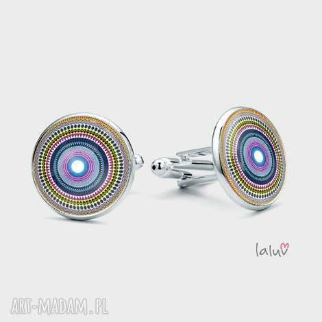 spinki do mankietów love mandala, miłość, harmonia, prezent, grafika