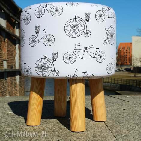 pufa jadę na rowerze - 36 cm, puf, stołek, ryczka, siedzisko, hocker, taboret
