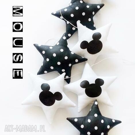 mouse - girlanda - gwiazdka, gwiazdki, girlanda, myszka, mouse