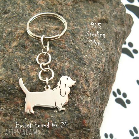 basset hound srebro próby 925 brelok nr 24, hound, naszyjnik z psem