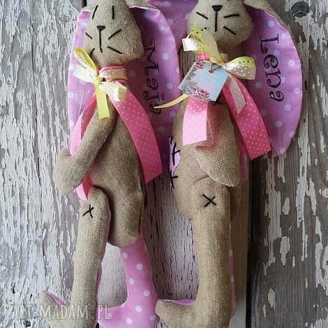 królik nuna, majuhandmade, dziecko, pokój, maskotka