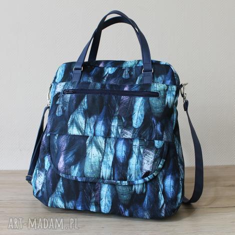 torebka listonoszka - piórka, elegancka, nowoczesna, pakowna, prezent