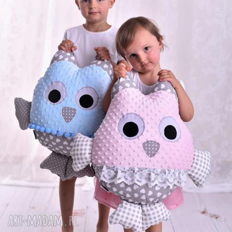poduszka dziecięca sowa - poduszka-dla-dzieci, poduszka-sowa, pomysł-na-prezent