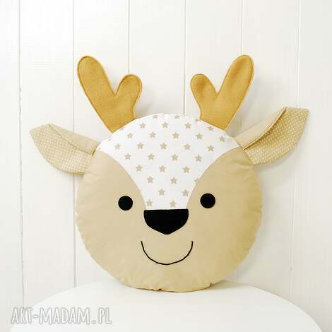 jelonek poduszka - poduszka, jeleń, renifer, jelonek, poducha, przytulanka