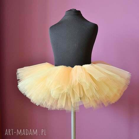 brzoskwiniowa tutu, tiulowa, spódniczka, tiul, brzoskwiniowa, baletnica dla