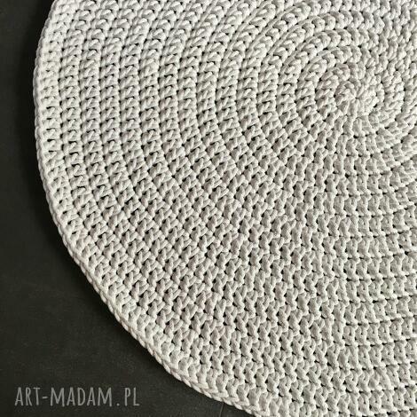 dywany dywan ze sznurka bawełnianego biały 130 cm, dywan, chodnik, sznurek, szydełko