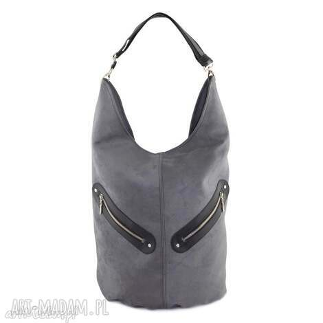 kofi - duża torba worek szara, worek, pojemna, duża, niebanalna, prezent