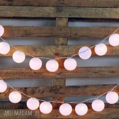 qule lampki cotton balls light śnieżnobiałe 35 qul, wesele, przyjęcie, kule