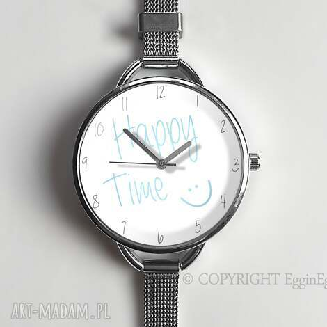 zegarek damski delikatny szczęśliwy czas - zegarek-damski