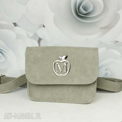 mini manzana torebka elegancka koprtówka / nerka szara, torebka, koperta