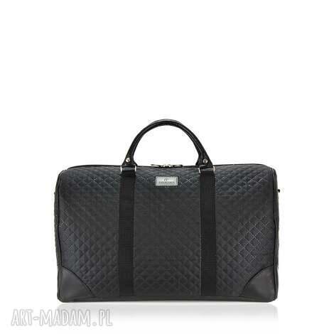 świąteczny prezent, torba sportowa 1024, torba, podróżna, modna, pikowana, czarna