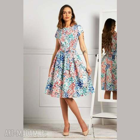 sukienka marie midi anabelle, rozkloszowana sukienka, lato, letnia