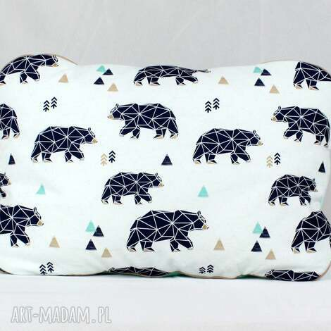 nuvaart poduszka niedźwiedzie geometryczne 45 x 60 cm, poduszka, przedszkolaka